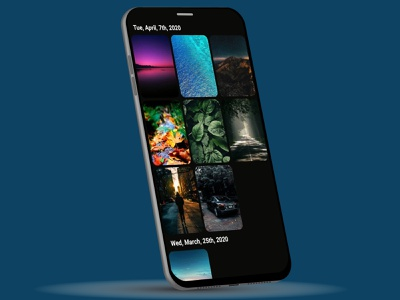 Gallery app album pictures gallery ui illustration design website web design mobile app prototype ux ui design