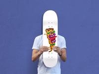 Pizza Skateboard