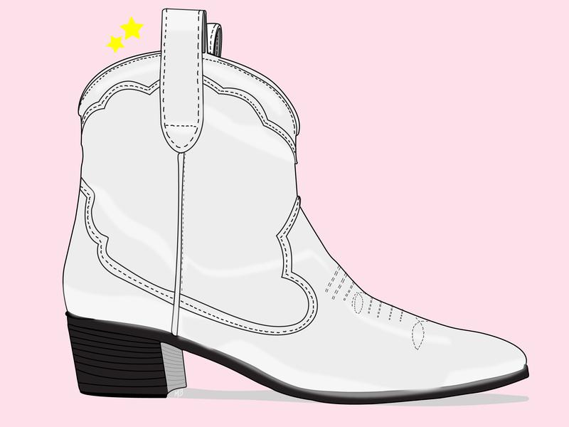 RC cowboy boots cowboy illustration art vector illustration illustrator design