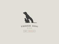 Three Dog Stamp Design