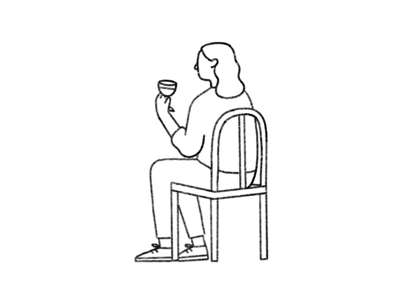 Mood character design woman line drawing chair sketch line illustration simple lines sitting site