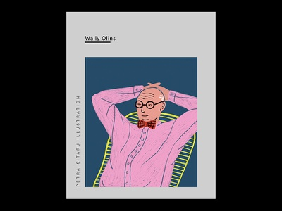 Wally Olins illustration pink person portrait wallofwally