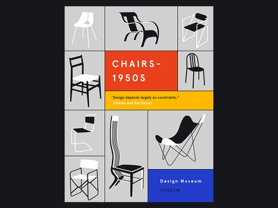 Chairs Poster furniture interior design product design eames chair poster