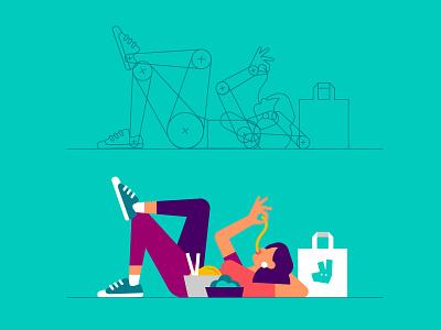 Illustration guidelines guidelines people figures illustration deliveroo