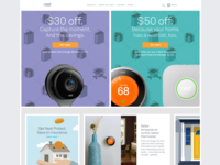 Nest Home Page with Promotions