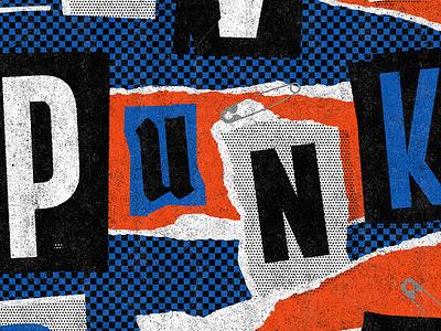 Punk! punkrock typogaphy poster graphic trash punk colour typography lettering design illustration