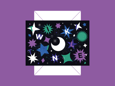 Twinkle Twinkle baby fun illustrator greeting card stars star sky pattern design colour illustration