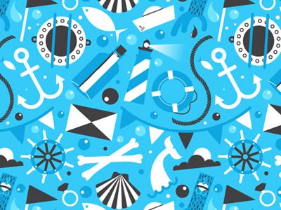 Deep Blue Sea Pattern