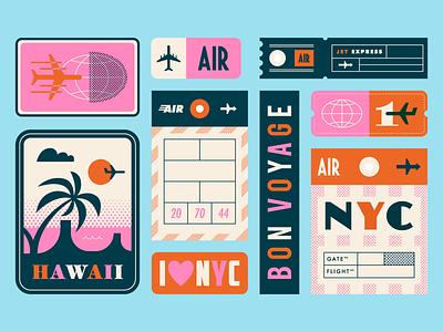 Travel... Again ✈️ airplane pass ticket travel plane orange blue pink