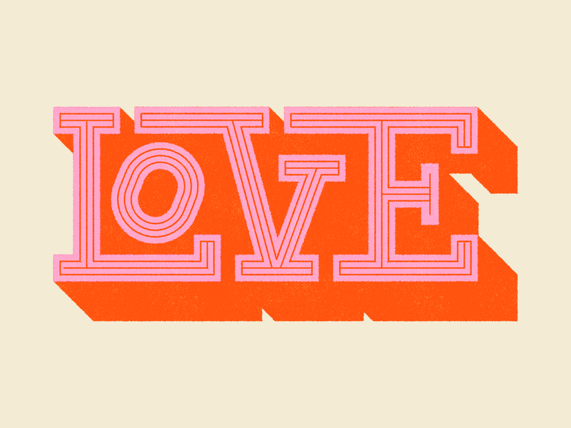 LOVE typography WIP typogaphy lettering type red pink