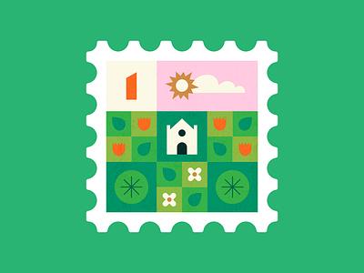 Spring doodling stamp flowers illustrator vector colour design pink illustration