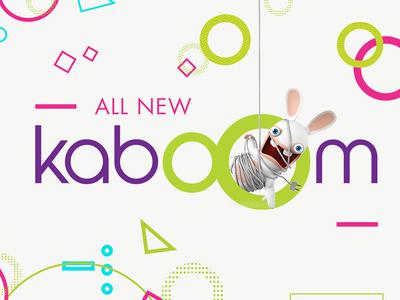 KaboOm Branding kids logos fun app logo logo design television tv kids app ux ui branding