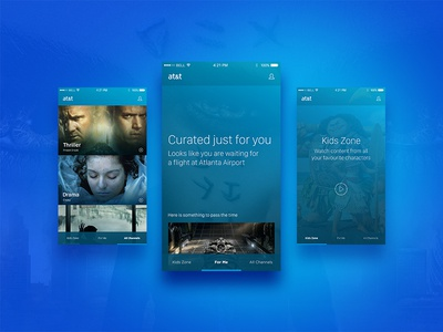 at&t Concept pitch ottawa design mobile iphone television tv app design ui design user interface ux ui att