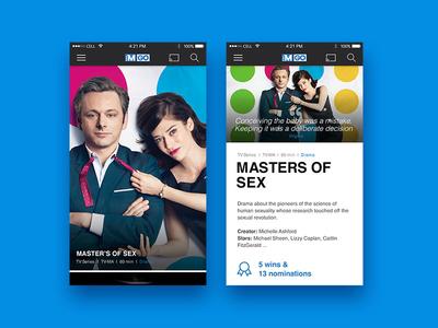 TMNGO Pitch card movies tv show design handset ios ottawa app tv mobile pdp