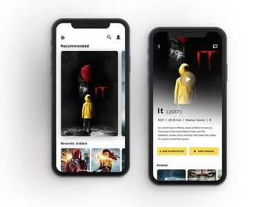Lander and PDP page inspiration movie user inspiration television iphonex ux ui mobile iphone pdp