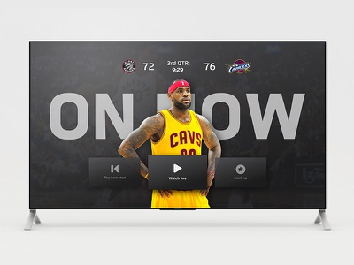 ESPN Plus: The Future of Live Sports future television app apps sports app sports 10ft tv user interface television ux ui espn
