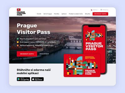 Prague Visitor Pass - Landing Page red ui design ui website design web design webdesign website