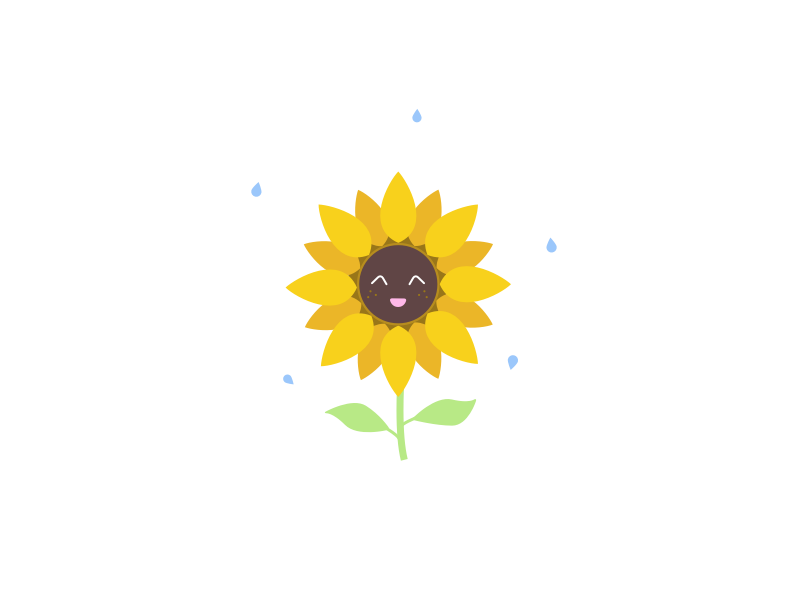Juggling sunflower forfun cute flower design illustration