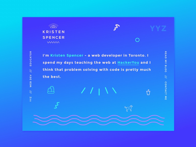 Kristen Spencer personal site fun illustration design