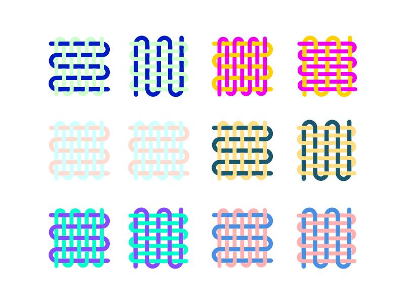 Logo colour test process icon logo