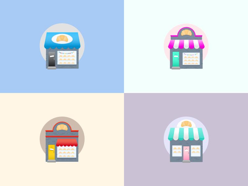 'Bakery' Icons croissants bakery illustration icons
