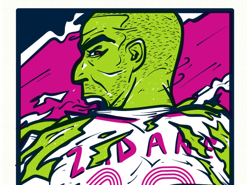 The Incredible Zizou hulk zidane zizou illustration