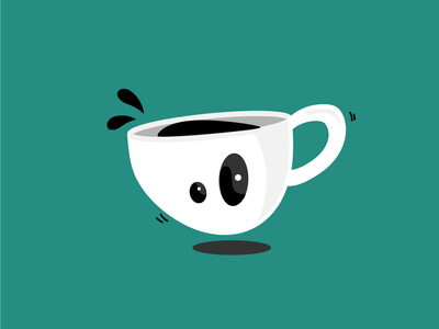 Daily Cup #2 cartoon character character cup of coffee coffee vector illustration design