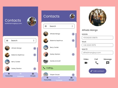 Contacts App UI user experience tech productdesign interaction design google design google figma android design android figmadesign