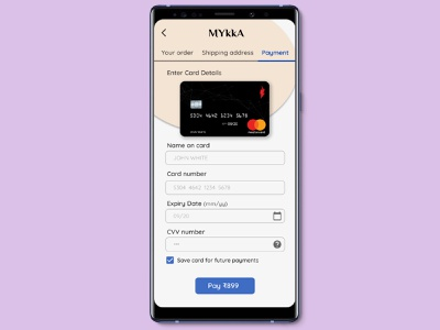 Card payment page - #DailyUI #002 illustration google adobexd userinterface android design ui uxui dailyuichallenge design tech dailyui 002 dailyui prototype user experience productdesign interaction design figmadesign figma android