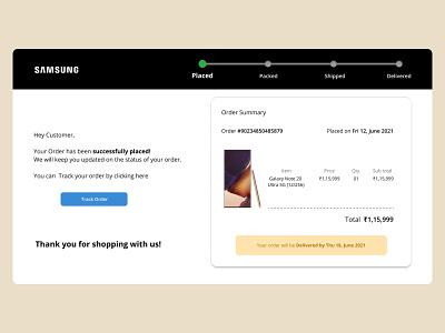 Email Receipt - #DailyUI #017 webdesign web design web page dailyuichallenge dailyui017 dailyui email receipt user interface design ui uxui productdesign user experience interaction design figmadesign figma