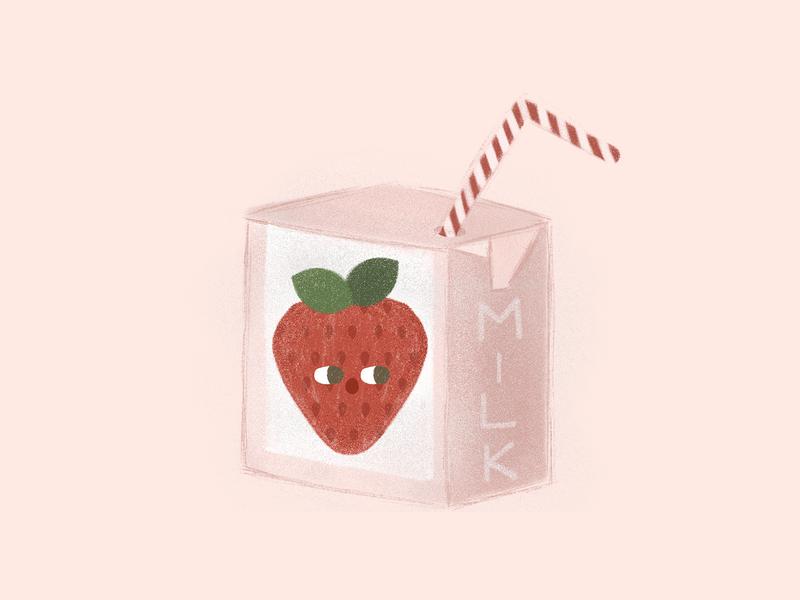 strawberry milk characterdesign illustrationartists illustration drawing milk strawberry milk strawberry