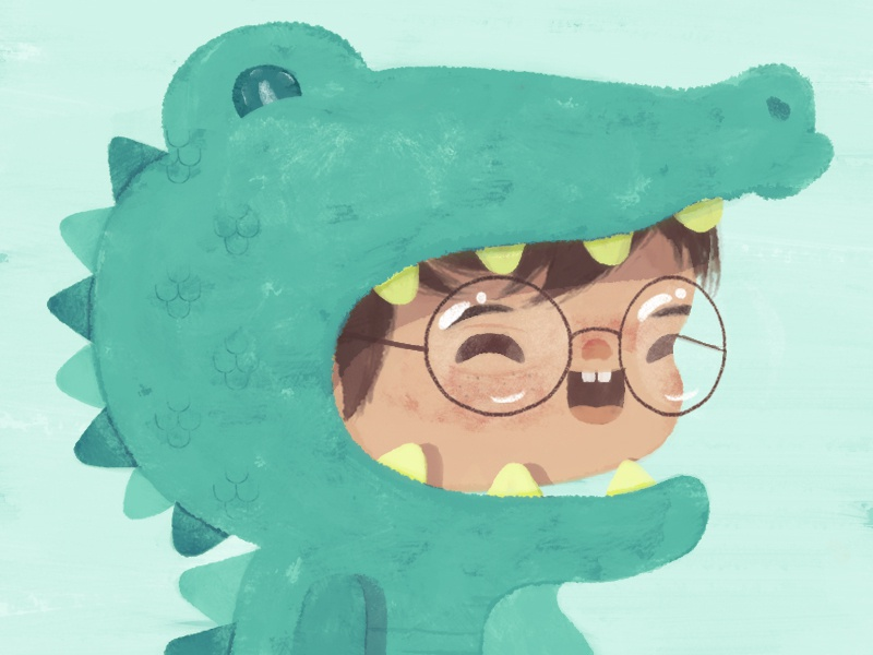 Cocodrilo :D  drawingday crocodilecustume crocodile gator kidsillustration illustration characterdesign cartoon boy alligaitor drawing cocodrilo