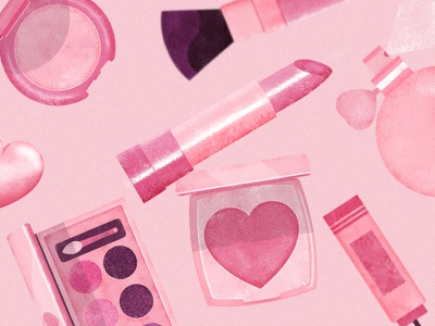 PRETTY GIRLS I girlscollectionchic coloursyoung friendly products nice pink illustrations colourful makeup
