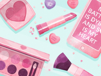 PRETTY GIRLS II products pink nice makeup illustrations girlscollectionchic friendly coloursyoung colourful