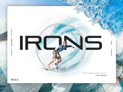 RVCA Concept extreme sports web design surf rvca athlete waves water sports surfing typography design