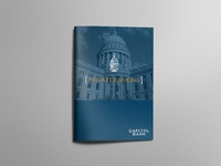 Private banking folder mockup cover
