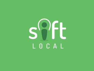 Sift Local map marker logo design pointer location icon identity branding logo