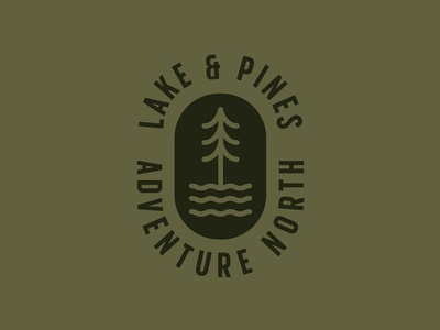 Lake & Pines icon adventure wisconsin apparel outdoors north identity branding logo