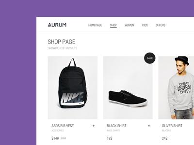 Aurum - Shopping Theme aurum themeforest envato theme purple minimal minimal theme template