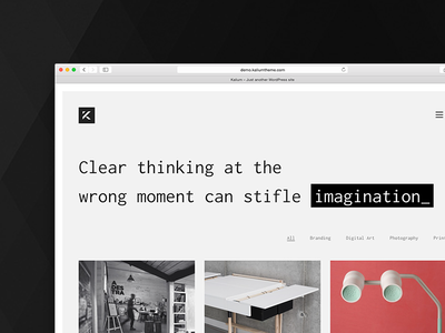 Kalium - Creative Theme for Professionals kalium laborator wordpress agency minimal designers white