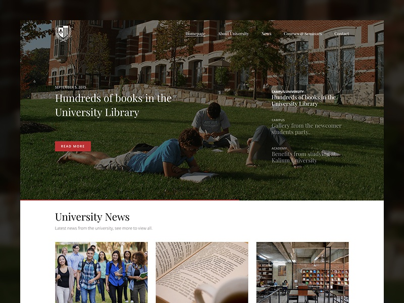 Education Site template theme themeforest kalium campus courses students learning college school university education