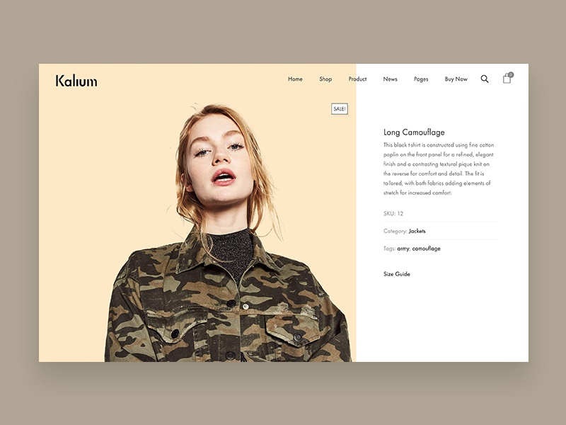 Minimal Product Page minimalist minimal ecommerce shop product web design website web design wordpress fashion