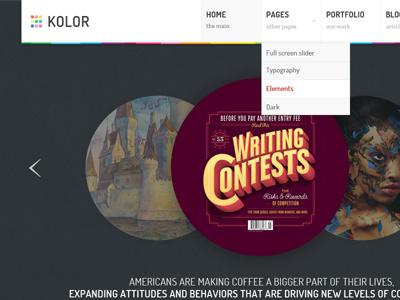 Kolor kolor color theme themeforest menu palette cmyk colours download theme