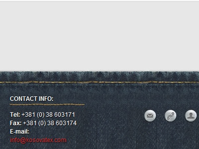 Jeans Footer  branding sewing dots button buttons info jeans footer