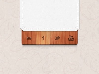 Social Wood Icons social icons facebook twitter youtube mail social icons networking wood food foodish bakery cuisine ribbon 3d hover