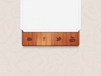 Social Wood Icons