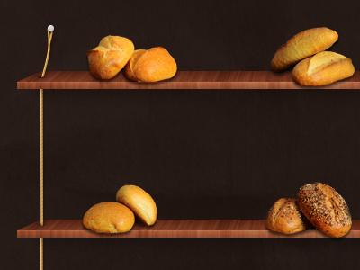 Wood Shelf shelf bread buka bakery wood woody bookshelf rope