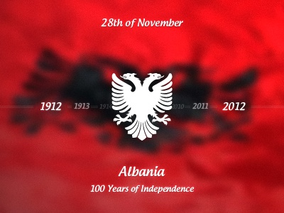 100th Anniversary of Independence albania balkans europe state country pavaresi 100 vjet shtet anniversary free stuff eagle two headed eagle 1912 2012 shqiperia shqiponja kosova kosovo shqip maqedonia november 28 nentori flag flamuri red black red and black kuq e zi