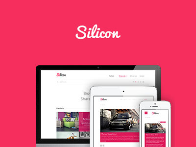 Silicon silicon minimal responsive project iphone mobile ipad ipad mini wordpress laborator pink white clean minimalist blog tags post comment date title headerlines loupe zoom detail details theme themeforest