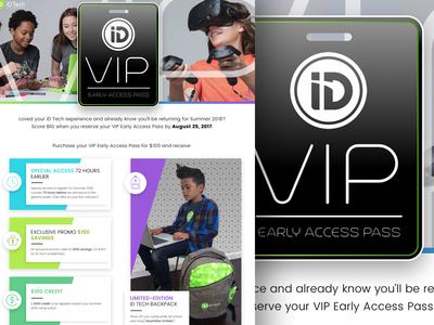VIP promo landing page